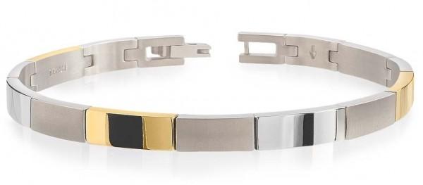Boccia Damen Armband 03036-02 Titan teil-gelbgoldplattiert