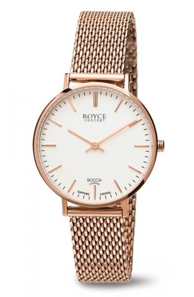 Boccia Damen Armbanduhr 3246-07 Royce roségold IP
