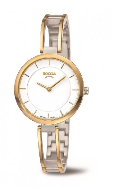 Boccia Damen Armbanduhr 3264-03 Style bicolor