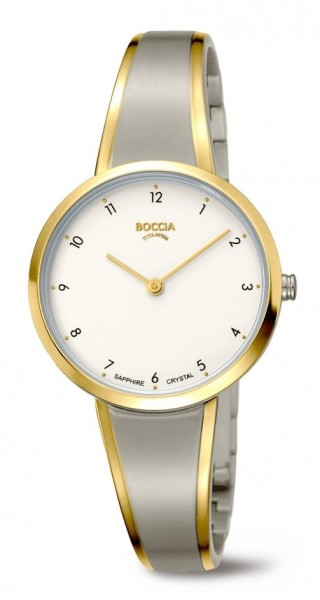 Boccia Damen Armbanduhr 3325-02 Style bicolor