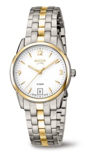 Boccia Damen Armbanduhr 3272-04 Classic bicolor
