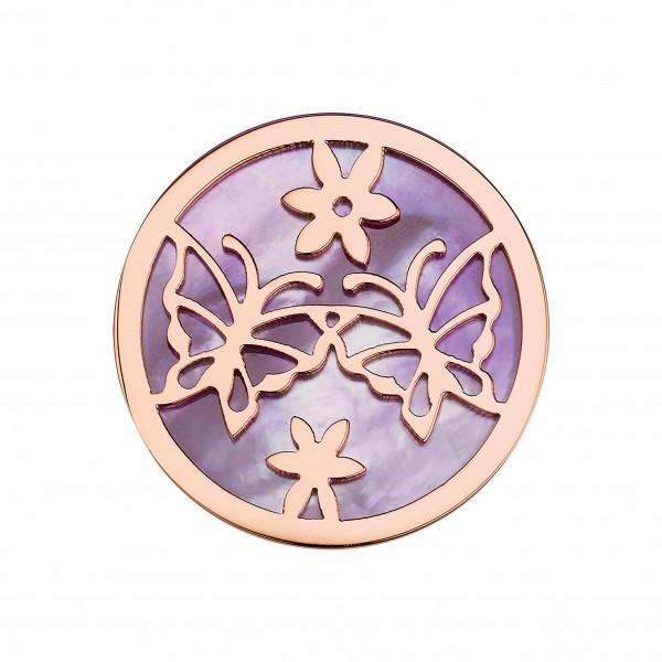 CEM Coins CS315/CS316 Anhänger Schmetterling perlmutt violett
