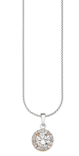 s.Oliver Damen Halskette SO1113/01 Silber Zirkonia