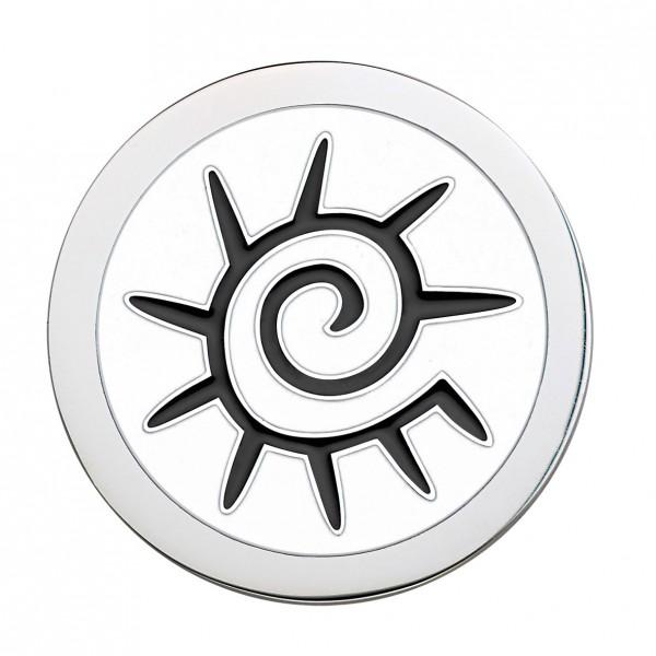 CEM Coins CS167/CS168 Anhänger Sonne Emaille weiß