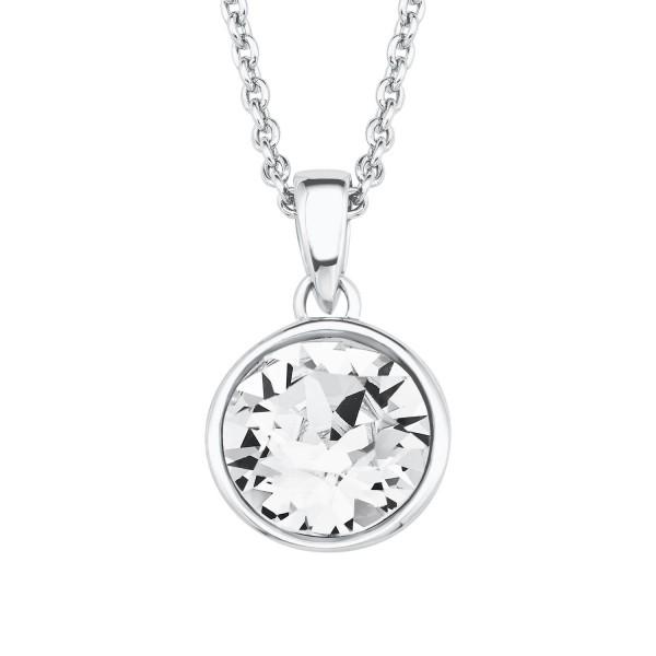 s.Oliver Damen Halskette 2018671 Silber Swarovski Crystal weiß