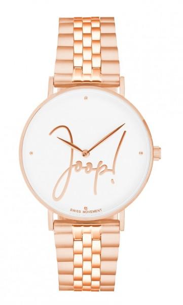 JOOP! Damen Armbanduhr 2028336 Metallband roségold IP