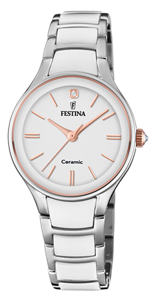 Festina Damen Armbanduhr F20474/2 Ceramic weiß