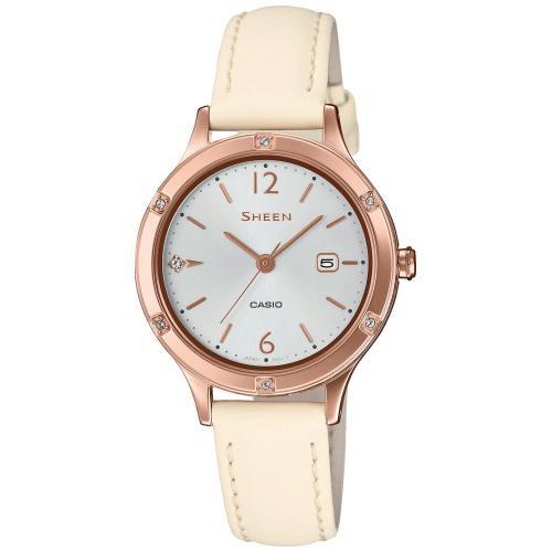 Casio Damen Armbanduhr SHEEN SHE-4533PGL-7AUER SWAROVSKI® CRYSTALS