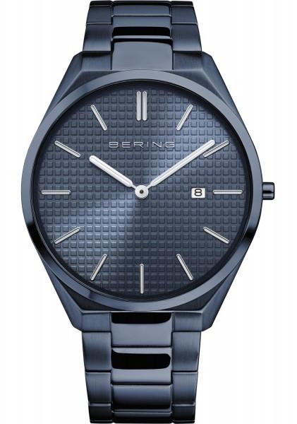 Bering Herren Armbanduhr 17240-797 Ultra Slim blau IP