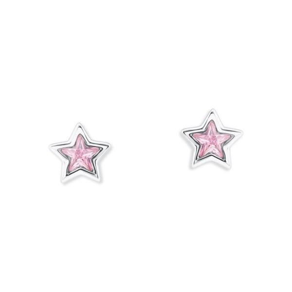 Lillifee Ohrstecker 2024372 Stern rosa Silber 925