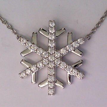 CEM Damen Halskette S-00594C Schneeflocke Silber