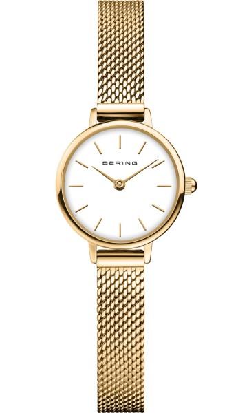 Bering Damen Armbanduhr 11022-334 Classic goldfarbig