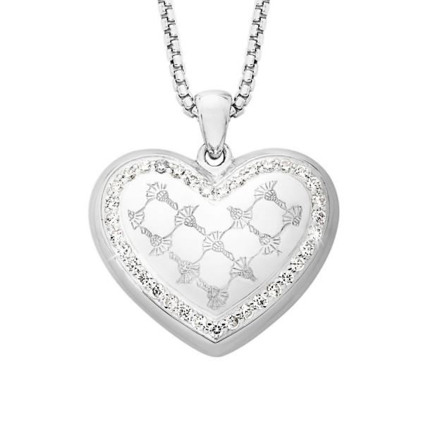 JOOP! Halskette 2023539 Herzanhänger Zirkonia Silber