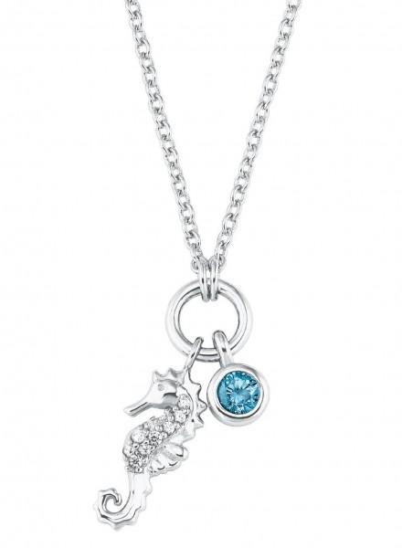 s.Oliver Mädchen Halskette 2027463 Seepferdchen-Anhänger Silber