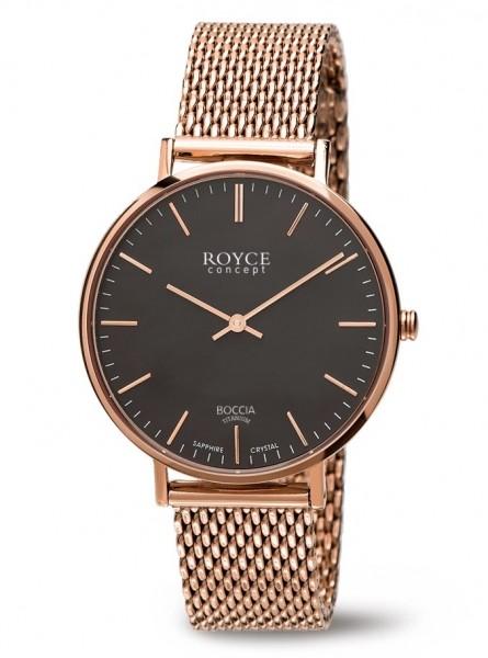Boccia Damen Armbanduhr 3590-10 Royce roségold IP