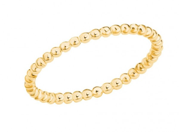 s.Oliver Damen Ring SO PURE 2026137 Silber vergoldet
