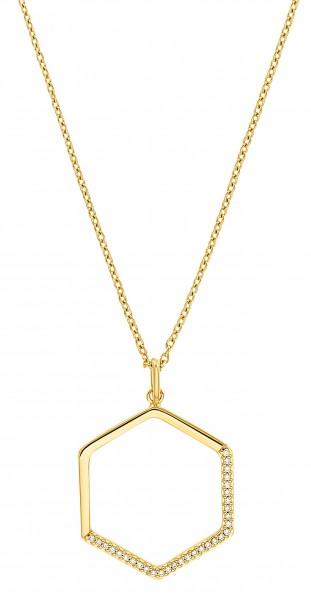 s.Oliver Damen Halskette 2031442 Zirkonia Silber vergoldet