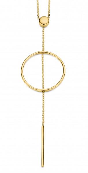 CEM Trends Damen Y-Halskette G3-00305C Kreis Gold
