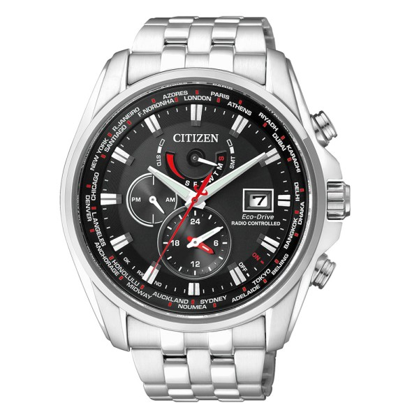 Citizen Herren Armbanduhr AT9030-55E Funk Eco-Drive