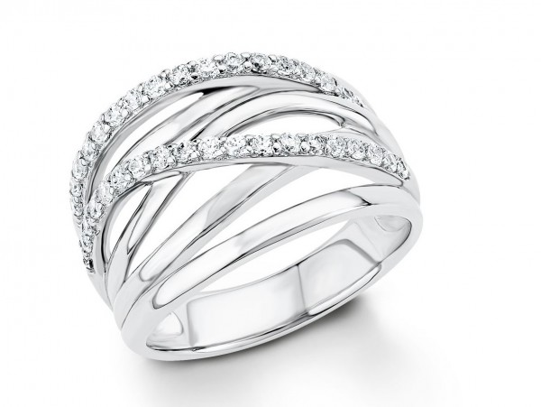 s.Oliver Damen Bandring 9031184 Zirkonia Silber