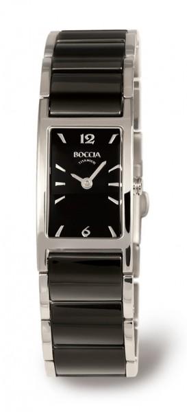 Boccia Damen Armbanduhr 3201-02 Ceramic schwarz