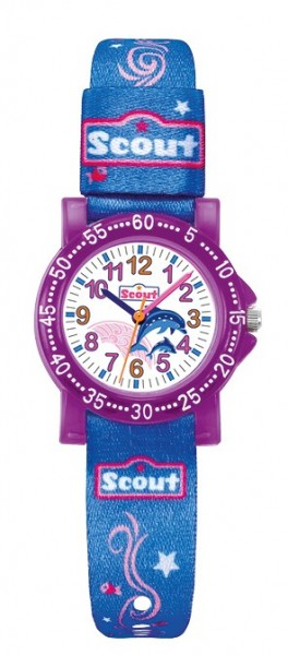 Scout Kinder Armbanduhr The IT-Collection 280375001 pink blau