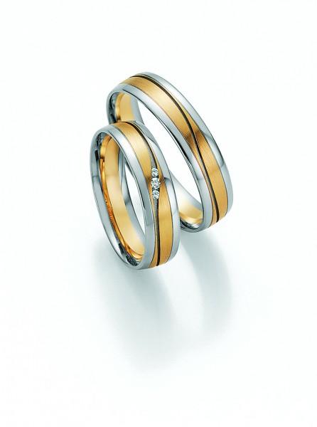Trauringe 66/32050-66/32060 Pure III Weißgold/Gelbgold