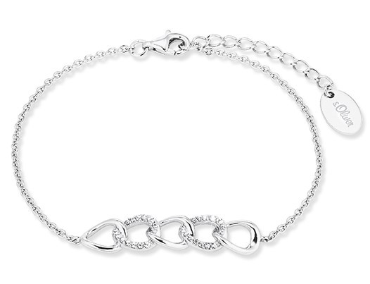 s.Oliver Damen Armband 2028498 Silber Zirkonia