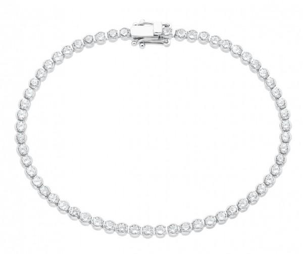 s.Oliver Damen Tennisarmband 2026093 Silber Zirkonia
