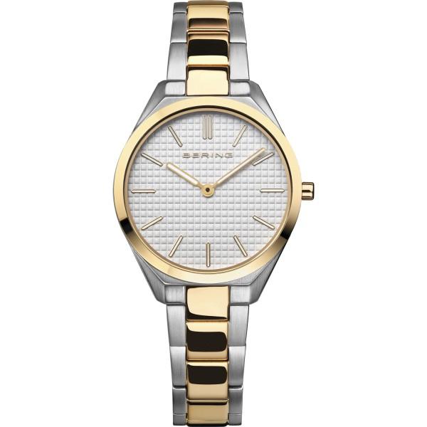 Bering Damen Armbanduhr 17231-704 Ultra Slim bicolor