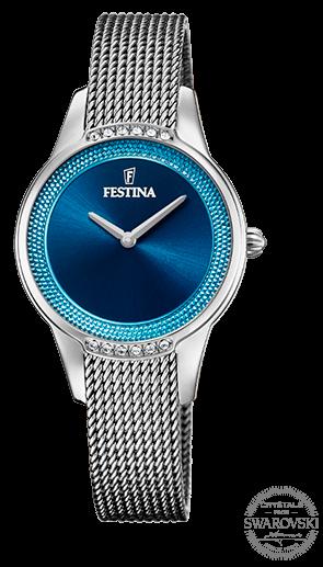 Festina Damen Armbanduhr F20494/2 Mademoiselle mit Swarovski Kristallen