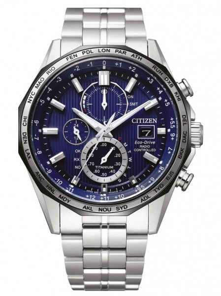Citizen Herren Armbanduhr AT8218-81L Funk Eco Drive Super Titanium