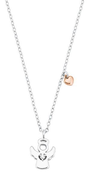 s.Oliver Mädchen Halskette 2028454 Silber Engel Herz
