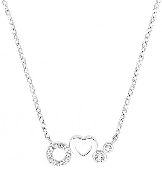 s.Oliver Girls Halskette 2031500 Silber Zirkonia