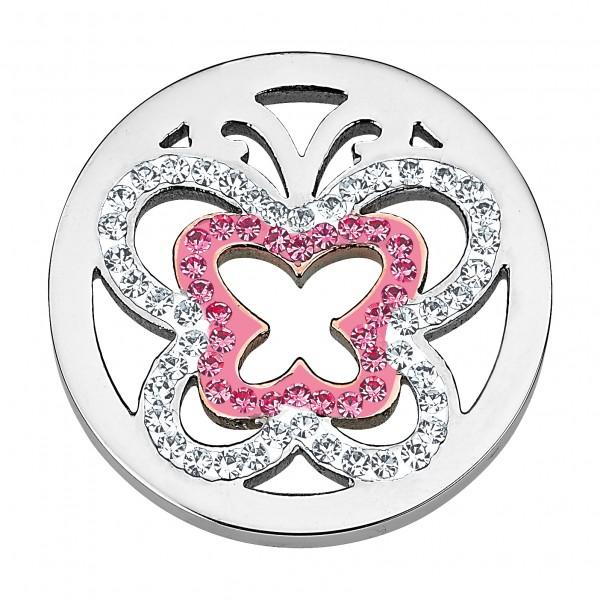 CEM Coins CS129/CS130 Anhänger Schmetterling Kristall