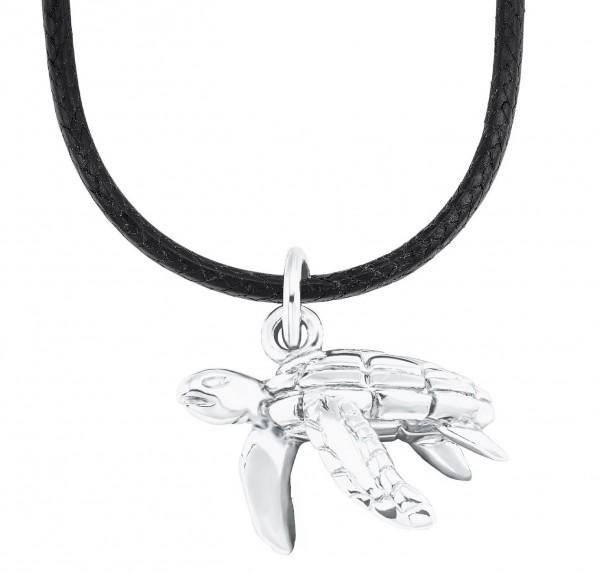s.Oliver Kids Halskette 2026056 Schildkröte Leder Silber
