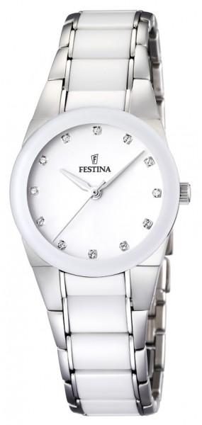 Festina Damen Armbanduhr F16534/3 Ceramic weiß