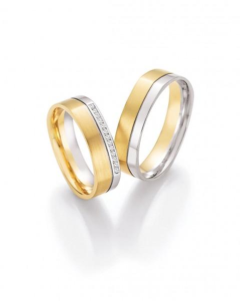 Eheringe Trauringe Solid V 66/45010 66/45020 Weißgold Gelbgold