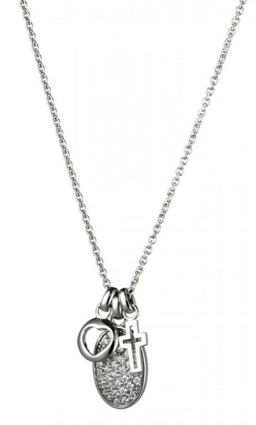 Fossil Damen Halskette JFS00169040 Silber Zirkonia