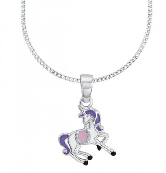 Lillifee Mädchen Halskette 2013150 Einhorn Rosalie Silber