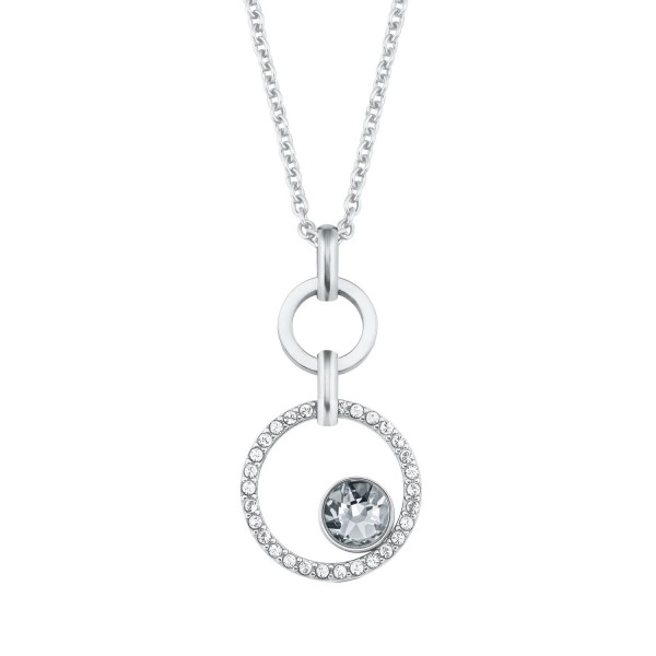 s.Oliver Damen Halskette 2024266 Edelstahl mit Swarovski® Kristallen