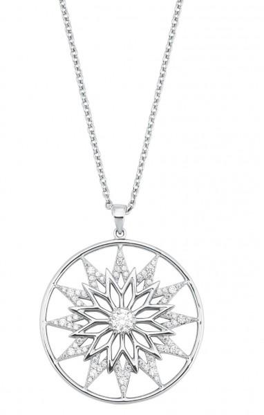 s.Oliver Damen Halskette 2028517 Silber Anhänger Zirkonia