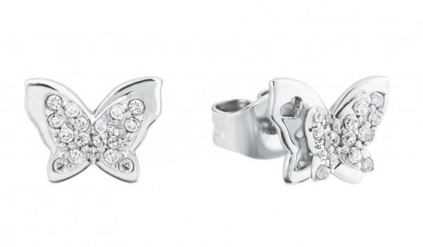 Lillifee Mädchen Ohrstecker 2027902 Schmetterling Zirkonia Silber 925