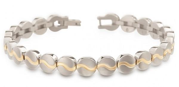 Boccia Damen Armband 03023-02 Titan teil-gelbgoldplattiert