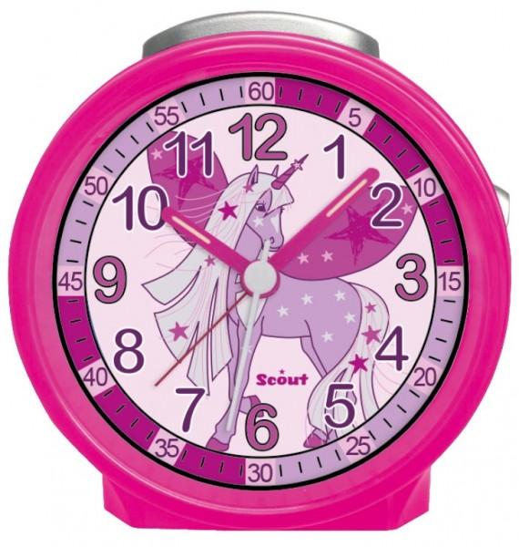 Scout Kinder Wecker 280001023 FRIENDS Einhorn pink