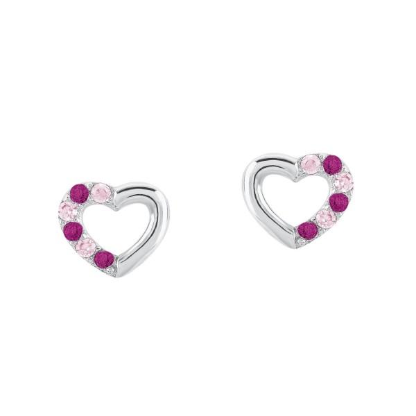 Lillifee 2024375 Ohrstecker Herz Silber 925 Zirkonia pink