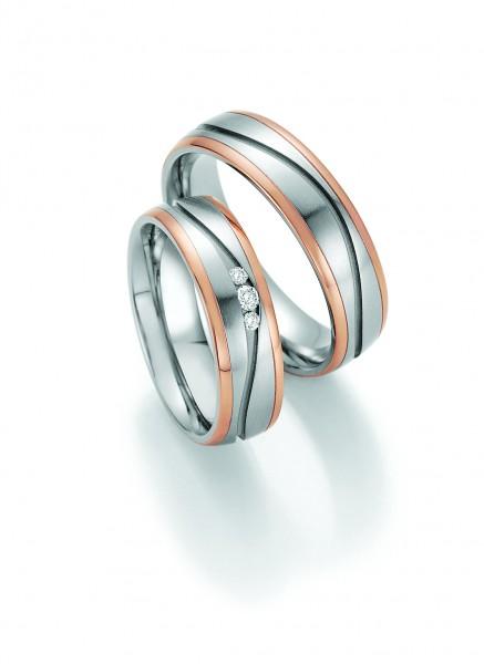 Trauringe 88/60170-88/60180 Steel & Gold Sensation