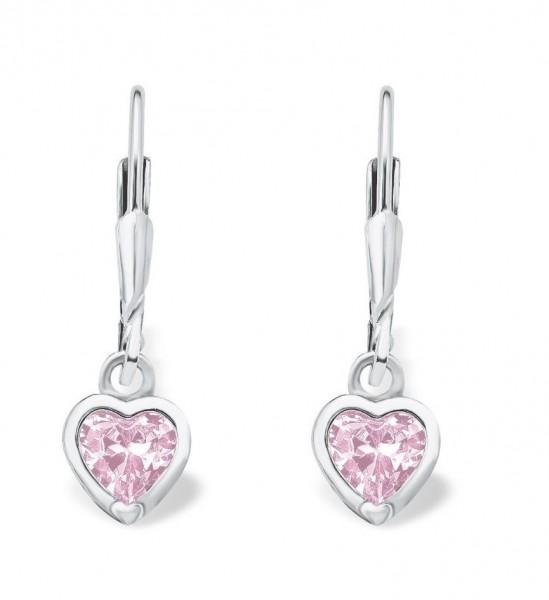 Lillifee Mädchen Ohrhänger 9081905 Herz rosa