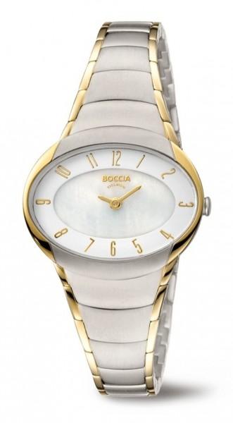 Boccia Damen Armbanduhr 3255-04 Trend bicolor