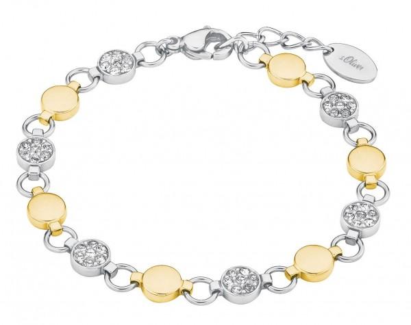 s.Oliver Damen Armband 2026172 Edelstahl mit Swarovski® Kristallen